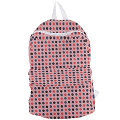 Grey Red Eggs On Pink Foldable Lightweight Backpack