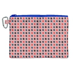Grey Red Eggs On Pink Canvas Cosmetic Bag (xl) by snowwhitegirl