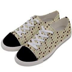 Brown Green Grey Eggs Women s Low Top Canvas Sneakers by snowwhitegirl