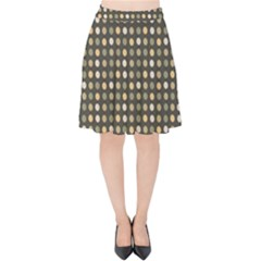 Grey Beige Eggs On Dark Grey Velvet High Waist Skirt by snowwhitegirl