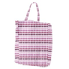 Pink Red Dots Giant Grocery Zipper Tote