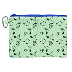 Mint Green Music Canvas Cosmetic Bag (xl) by snowwhitegirl