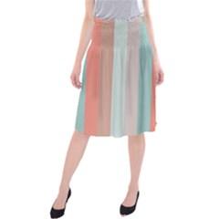 Seafoam Splash Midi Beach Skirt by snowwhitegirl