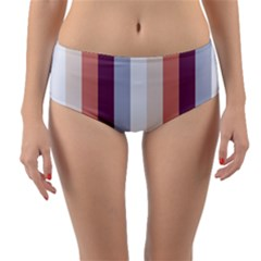 Grape Tapestry Reversible Mid Waist Bikini Bottoms by snowwhitegirl