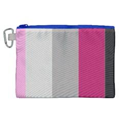 Laura Lines Canvas Cosmetic Bag (xl) by snowwhitegirl