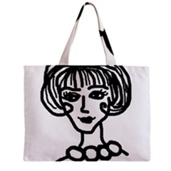 20s Girl Zipper Mini Tote Bag by snowwhitegirl