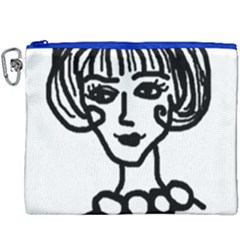 20s Girl Canvas Cosmetic Bag (xxxl) by snowwhitegirl