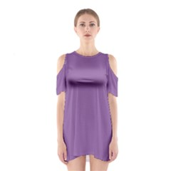 Another Purple Shoulder Cutout One Piece