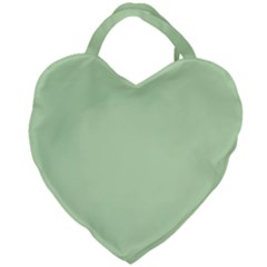 Baby Green Giant Heart Shaped Tote by snowwhitegirl