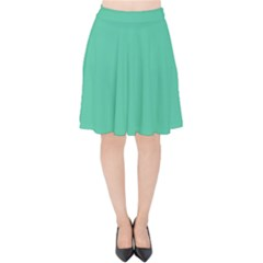 Seafoamy Green Velvet High Waist Skirt by snowwhitegirl