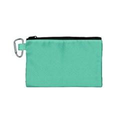Seafoamy Green Canvas Cosmetic Bag (small) by snowwhitegirl
