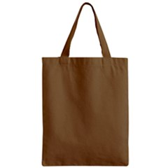 Brownish Zipper Classic Tote Bag by snowwhitegirl