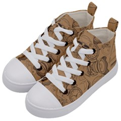 Lifestyle Pattern Kid s Mid Top Canvas Sneakers by berwies