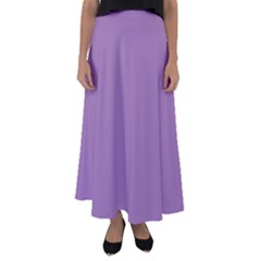 Uva Purple Flared Maxi Skirt