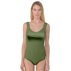 Earth Green Princess Tank Leotard  by snowwhitegirl
