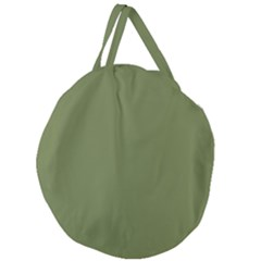 Earth Green Giant Round Zipper Tote by snowwhitegirl
