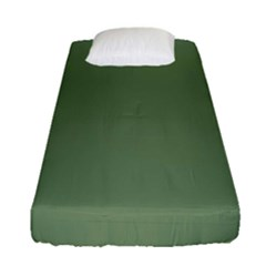 Army Green Fitted Sheet (single Size) by snowwhitegirl