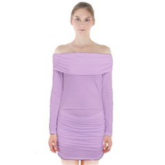Lilac Star Long Sleeve Off Shoulder Dress