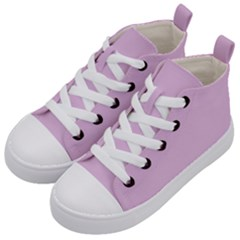 Lilac Star Kid s Mid Top Canvas Sneakers by snowwhitegirl