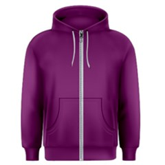 Magenta Ish Purple Men s Zipper Hoodie by snowwhitegirl