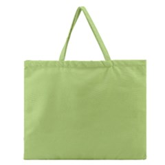 Grassy Green Zipper Large Tote Bag by snowwhitegirl