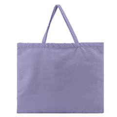 Grey Violet Zipper Large Tote Bag by snowwhitegirl