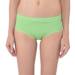 Meadow Green Mid Waist Bikini Bottoms by snowwhitegirl
