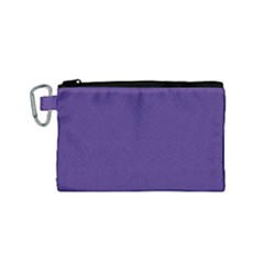 Dark Grape Purple Canvas Cosmetic Bag (small) by snowwhitegirl