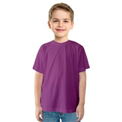 Grape Purple Kids  Sport Mesh Tee