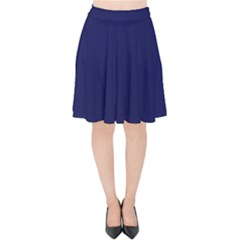 Dark Navy Velvet High Waist Skirt by snowwhitegirl