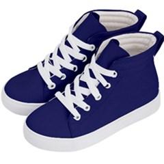 Dark Navy Kid s Hi Top Skate Sneakers by snowwhitegirl