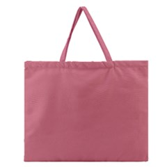 Pink Mauve Zipper Large Tote Bag by snowwhitegirl