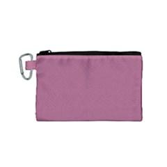 Rose Grey Canvas Cosmetic Bag (small) by snowwhitegirl