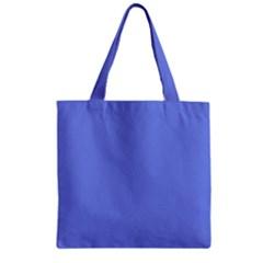 Lake Blue Zipper Grocery Tote Bag by snowwhitegirl