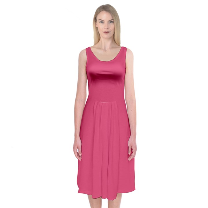 Rosey Day Midi Sleeveless Dress