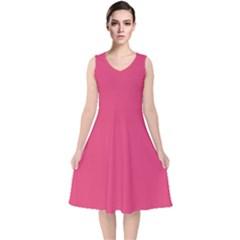 Rosey Day V Neck Midi Sleeveless Dress