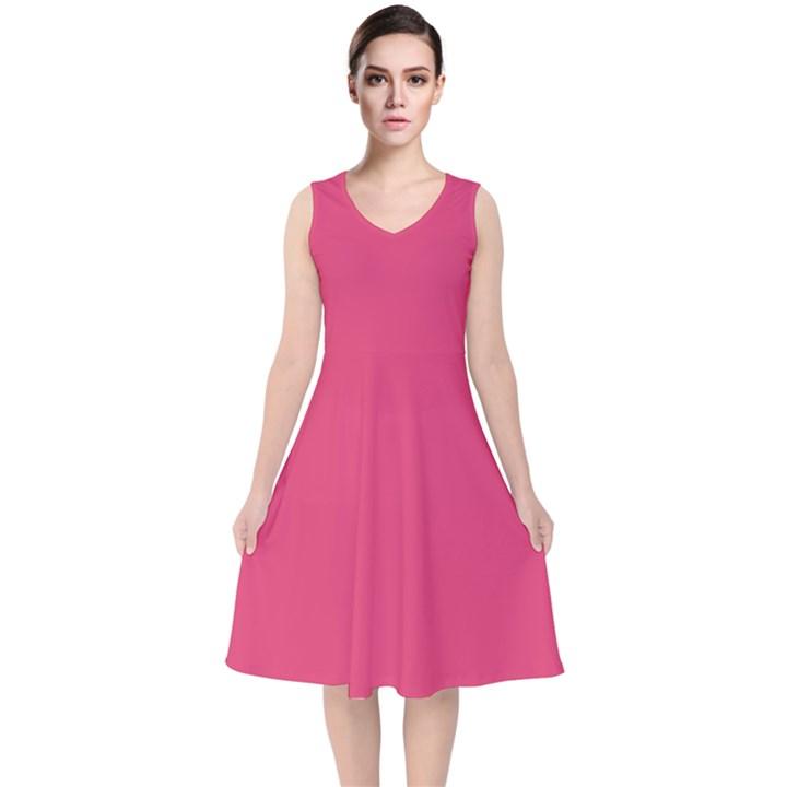 Rosey Day V-Neck Midi Sleeveless Dress