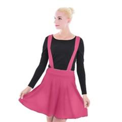 Rosey Day Suspender Skater Skirt