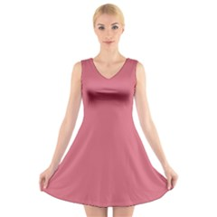 Rosey V Neck Sleeveless Skater Dress