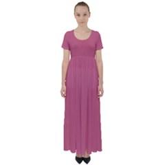 Rosey High Waist Short Sleeve Maxi Dress by snowwhitegirl