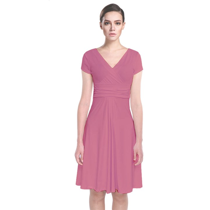 Rosey Short Sleeve Front Wrap Dress