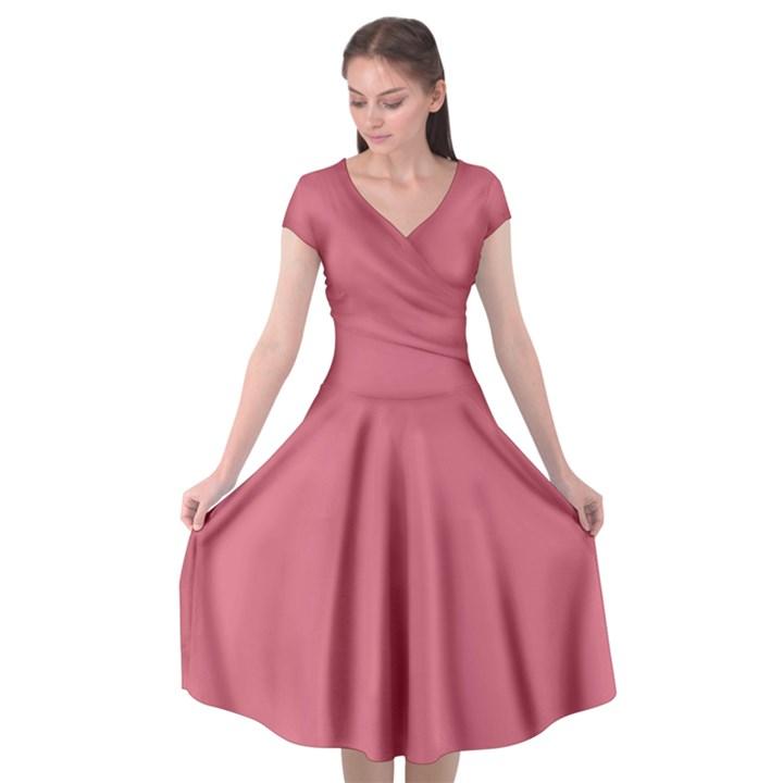 Rosey Cap Sleeve Wrap Front Dress