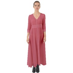 Rosey Button Up Boho Maxi Dress