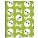 Skull Bone Mask Face White Green Apple iPad 2 Flip Case View1