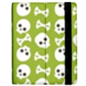 Skull Bone Mask Face White Green Apple iPad 2 Flip Case View2
