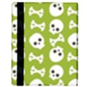 Skull Bone Mask Face White Green Apple iPad 2 Flip Case View3