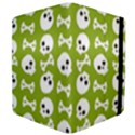 Skull Bone Mask Face White Green Apple iPad 2 Flip Case View4