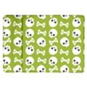 Skull Bone Mask Face White Green Samsung Galaxy Tab 10.1  P7500 Flip Case View1