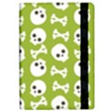 Skull Bone Mask Face White Green iPad Air Flip View2