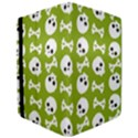 Skull Bone Mask Face White Green iPad Air Flip View3